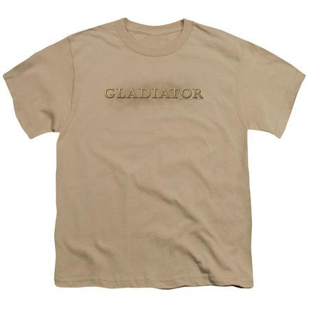Gladiator Logo Big Boys Youth Shirt (Sand, Large)](Gladiator Boy)
