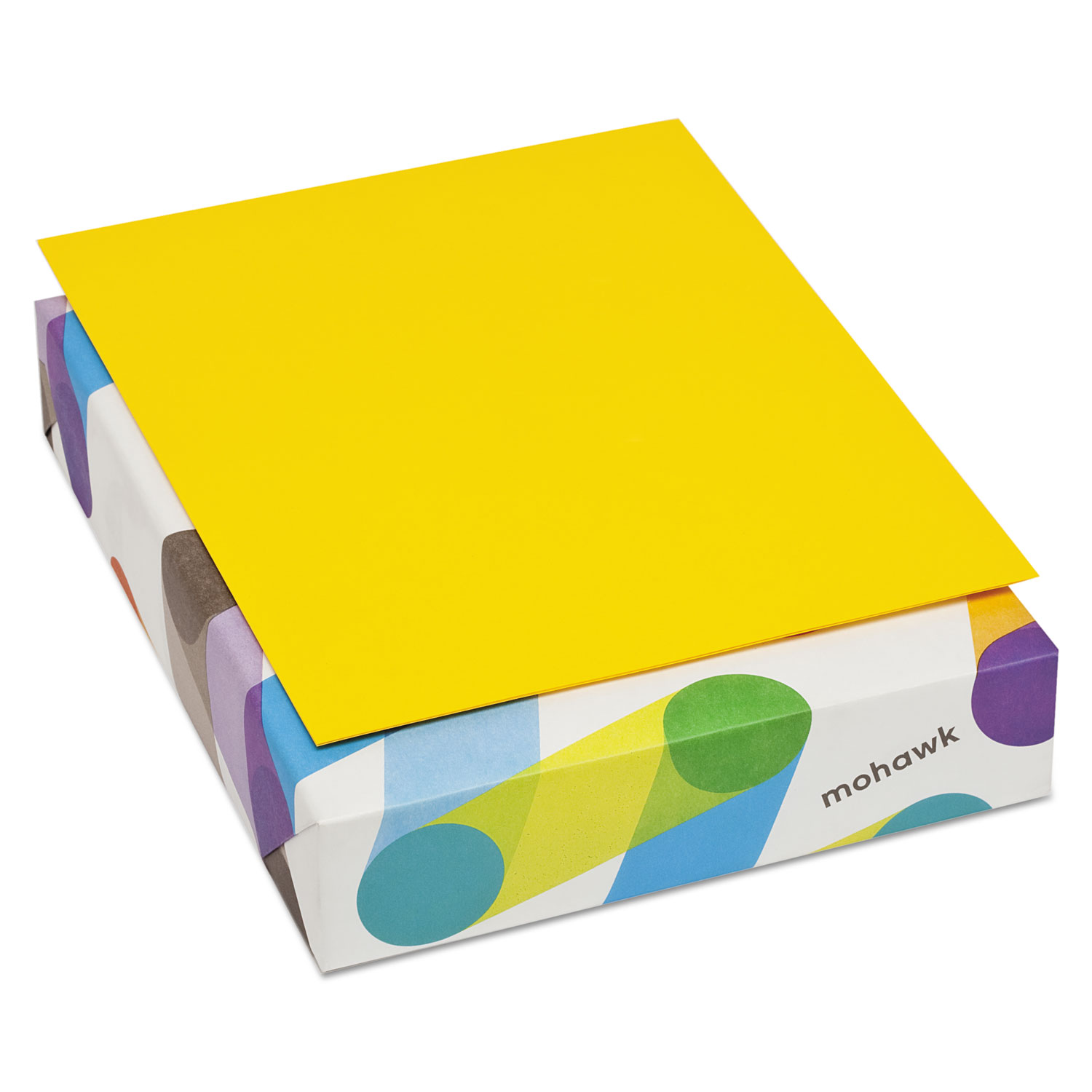 Mohawk 10299-6 Britehue Multipurpose Colored Paper, 24lb, 8 1/2 X 11, Sun Yellow, 500 Sheets