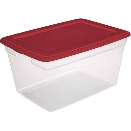 Sterilite 14.5 Gallon Infra Red Storage Box, 2 Piece
