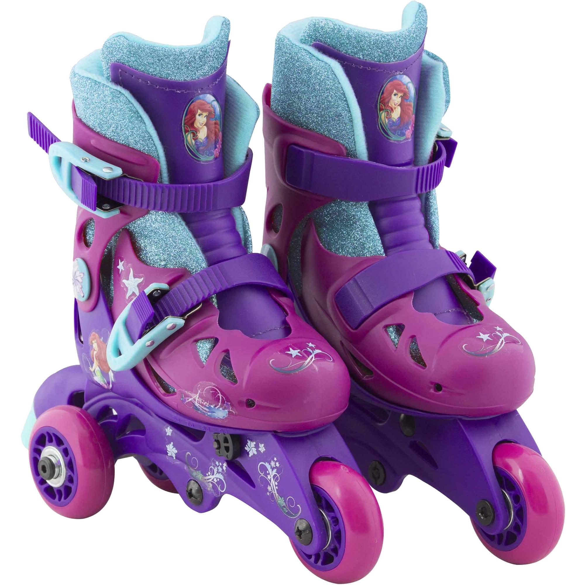 Roller skates for dogs - Playwheels Disney Little Mermaid Convertible 2 In 1 Kids Skate Junior Size 6 9 Walmart Com