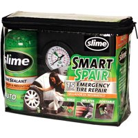 Slime-Smart Spair- Emergency Flat Tire Repair Kit with tire sealant and 12 Volt Inflator