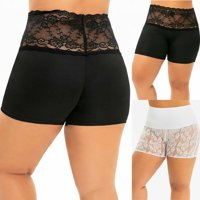 Pudcoco Sexy Lace Panty Ladies Fashion Safety Short Pants Lingerie High Waist Women Oversized Safety Shorts