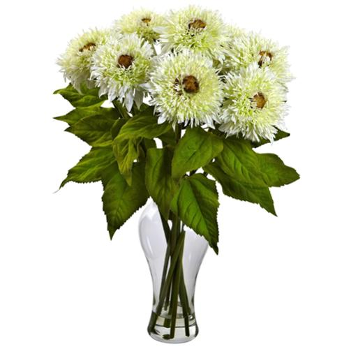 Sunflower Arrangement in Vase White