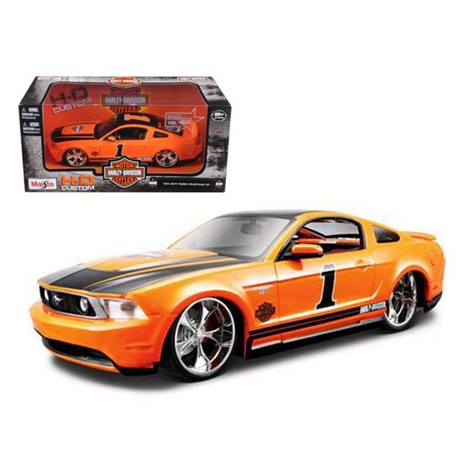 Maisto 32170or 2011 Ford Mustang GT Harley Davidson Orange No.1 1-24 Diecast Model Car by Maisto International Inc