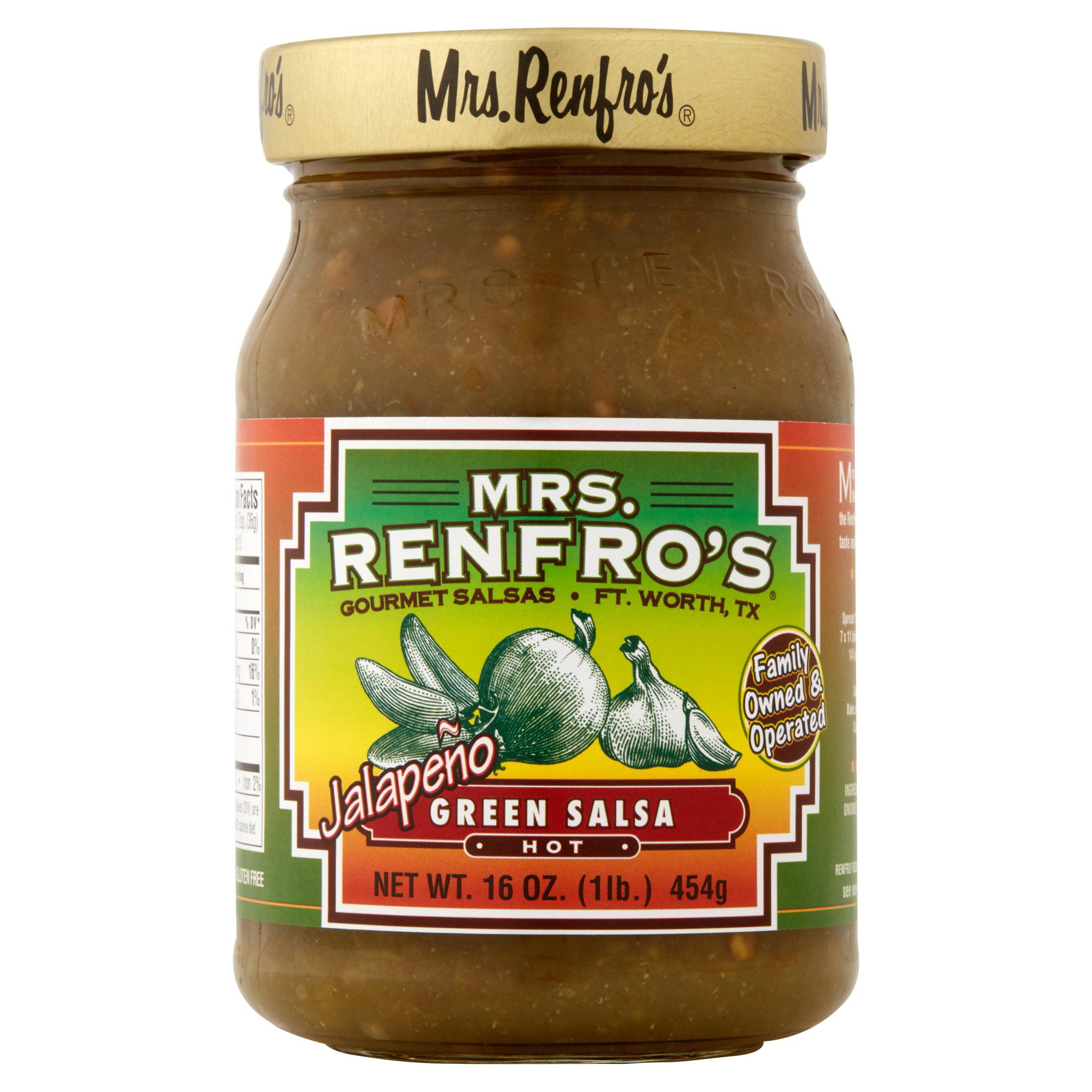 Mrs. Renfro's Gourmet Salsas Hot Jalapeno Green Salsa, 16.0 OZ by Renfro Foods, Inc.