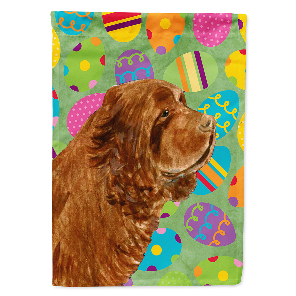 Sussex Spaniel Easter Eggtravaganza Flag Canvas House Size