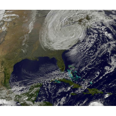 Post Tropical Storm Sandy rolling inland Canvas Art - Stocktrek Images (31 x 26)