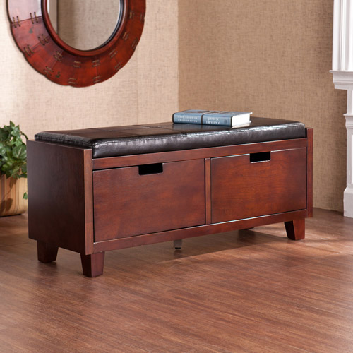 Amherst 2-Drawer Entryway Bench, Espresso by Southern Enterprises Inc