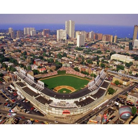 Wrigley Field aerial view Photo (Wrigley Field Framed Photo)