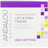 Andalou Naturals  Lift   Firm Cream  Hyaluronic DMAE  1 7 oz  50 g