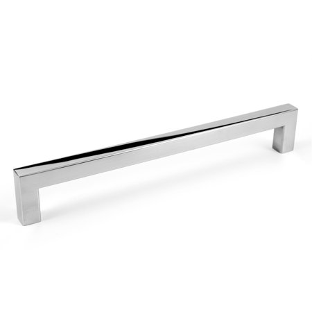 Pull Down Cabinets (Celeste Designs Square Bar Pull Modern Cabinet Handle Polished Chrome Stainless Steel 12mm 8