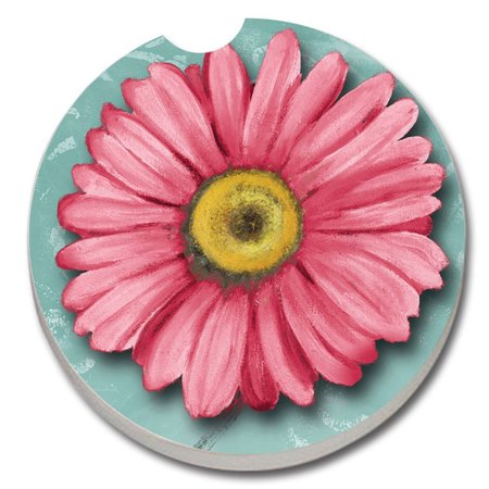 - CounterArt Absorbent Stone Blooming Daisy Car Coaster (Set of 2)