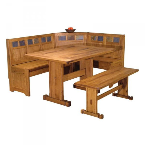Just Cabinets Furniture And More Sedona 2 Piece Breakfast Nook Dining Set
