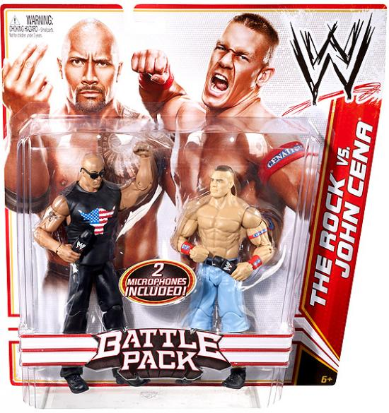 WWE Action Figures 2pk, John Cena/The Rock