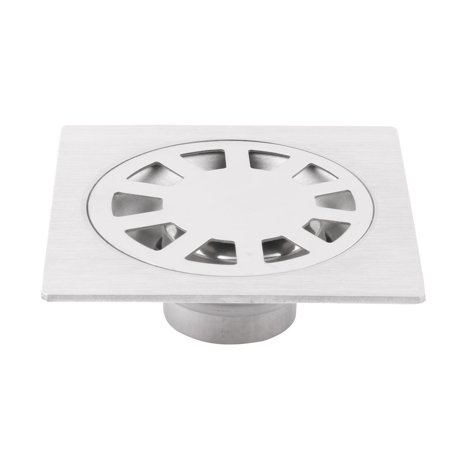 Canteen Stainless Steel Square Floor Sink Drain Cover Lid Strainer Waste Stopper