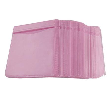 Unique Bargains 100 Disc Double Side CD DVD Sleeve Envelope Storage Case Holder Pink