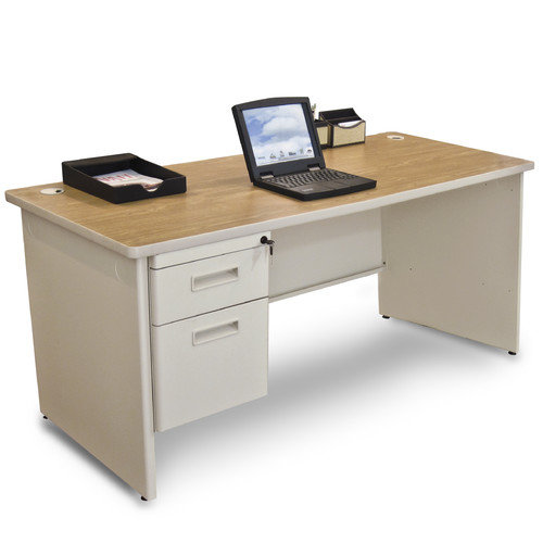 Marvel Office Furniture Pronto Single Pedestal Computer Desk with 2 Right Drawers