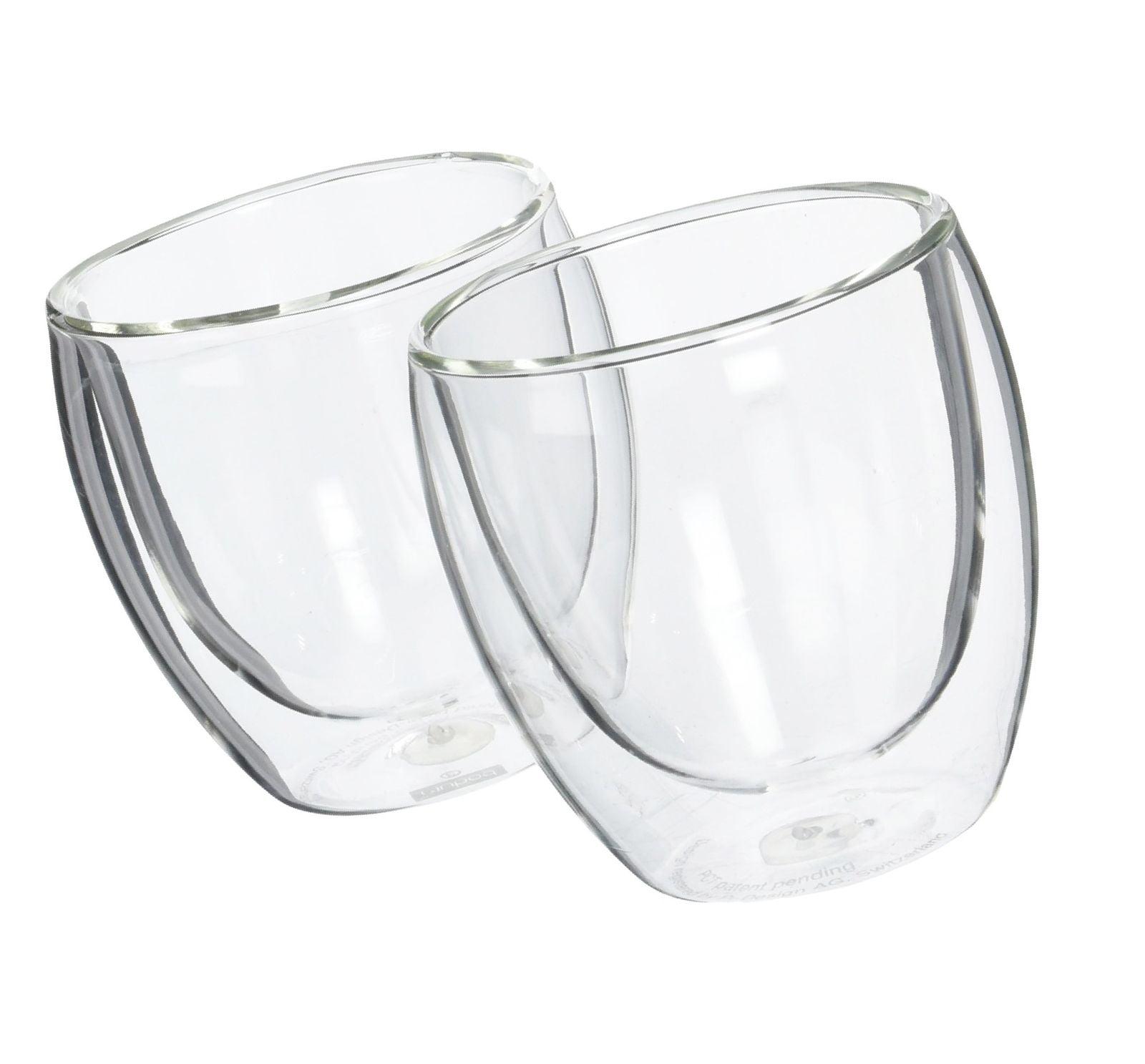 Bodum Pavina Glass, Double-Wall Insulated Glasses, Clear, 8 Ounces Each (Set ...