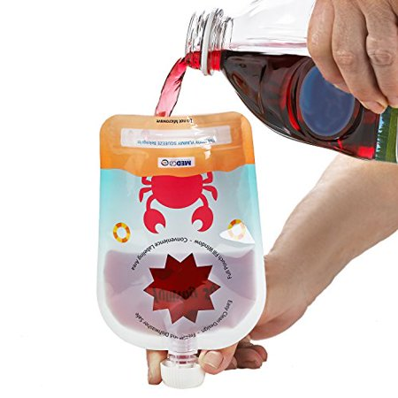Reusable Food Pouch - Refillable Baby Squeeze Pouches Kids of All Ages Love, Pack of 6 Large Pouches - image 1 of 8