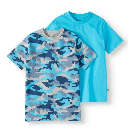 Solid And Graphic T-Shirt, 2-Pack Set (Little Boys & Big - Glow In The Dark T-shirts For Halloween