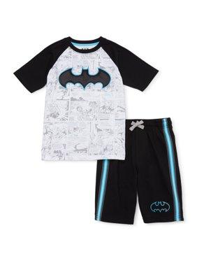 Batman Boys 4-18 Short Sleeve T-Shirt and Knit Shorts 2-Piece Set