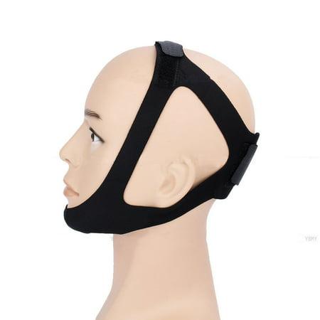 Alivio del ronquido triángulo ajustable correa de barbilla Cinturón - Solución de la apnea del sueño ATM Soporte