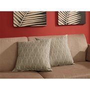 Dorel Home Products Accent Pillows, Set of 2, Brown Dot
