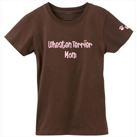 Coated Sleeves (Wheaten Terrier Soft Coated Mom Tshirt Ladies Cut Short Sleeve )