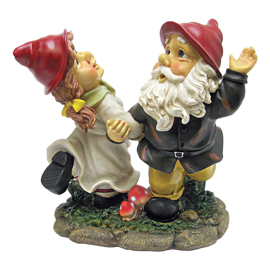 Design Toscano Dancing Duo Garden Gnome Statue by Design Toscano