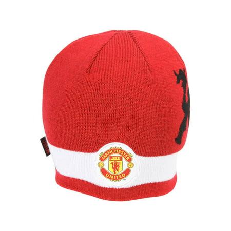 Manchester United Futbol Soccer Beanie Cap- Red