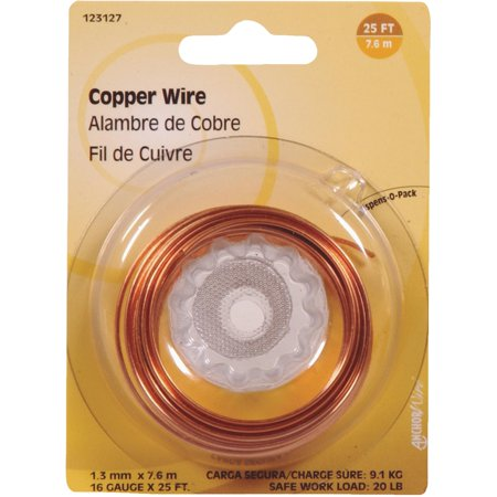 HILLMAN FASTENERS 16-Gauge Copper Wire, 25-Ft. -