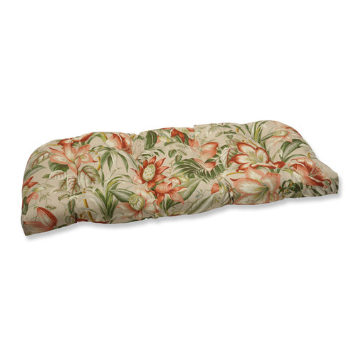 Pillow Perfect Outdoor/ Indoor Botanical Glow Tiger Stripe Wicker Loveseat Cushion