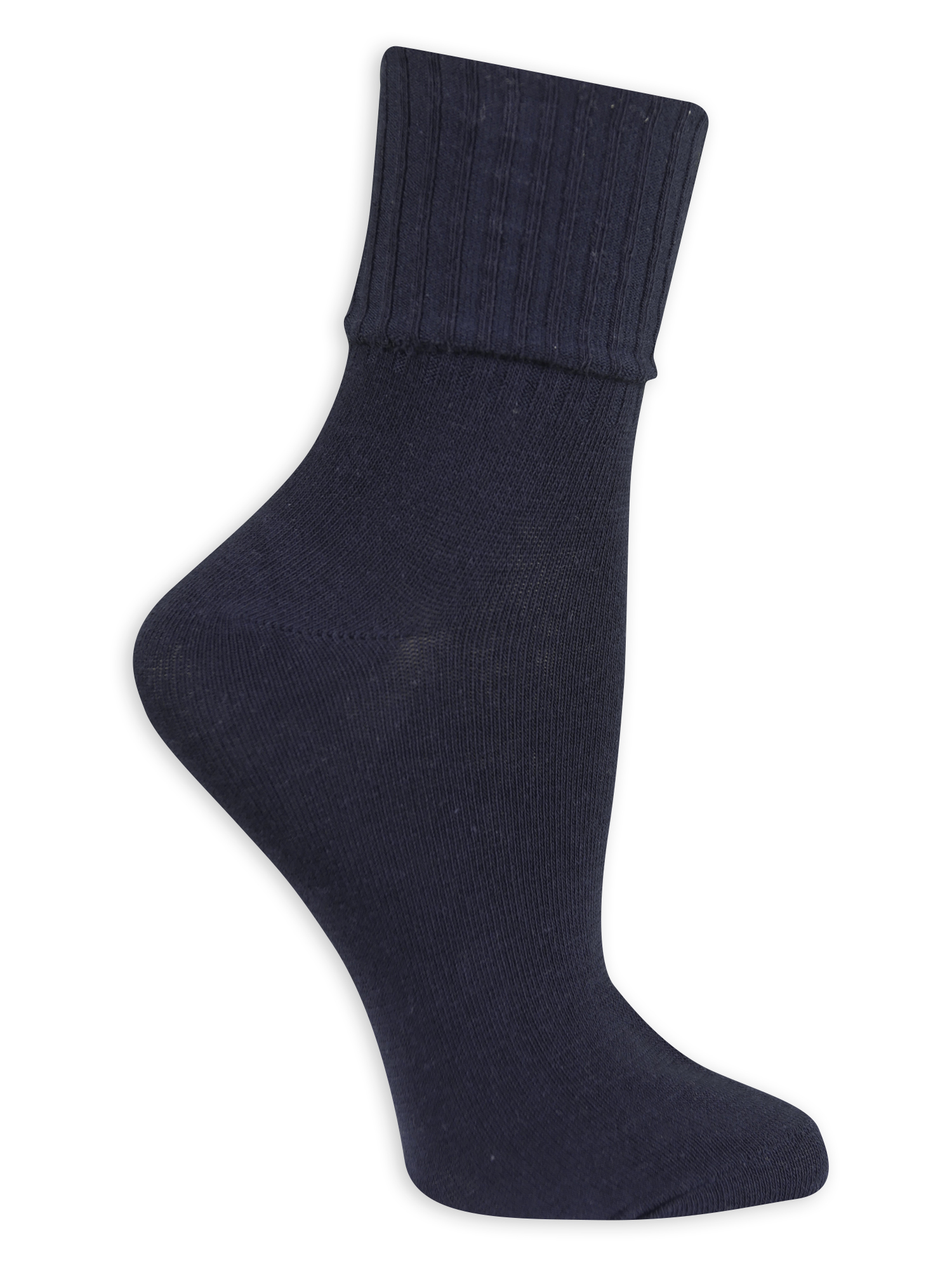 01e2666206b3 Women s Turn Cuff Socks 3 Pack - Walmart.com