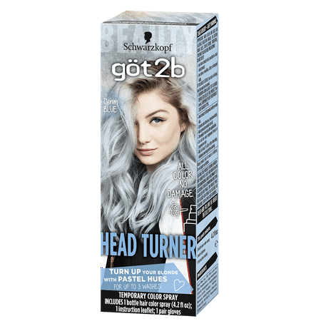 Got2b Headturner Temporary Hair Color Spray, Denim Blue