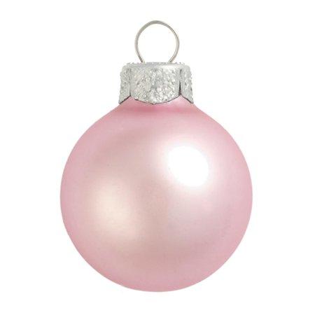 Northlight 40ct Matte Glass Ball Christmas Ornament Set 1.25