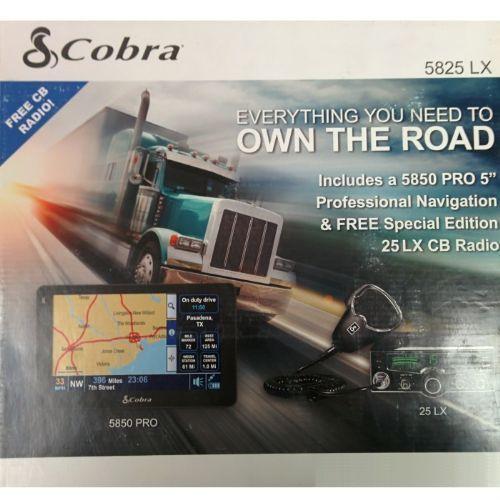 COBRA 5825 LX Professional Driver Bundle Pack (5850 PRO GPS Navigation + 25 LX CB Radio)