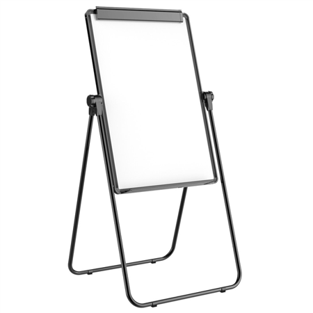 Yaheetech U-Stand Magnetic Whiteboard 24x36''Double Sided Dry Erase Board Portable/Height Adjustable & 360 Degree Rotating w/ 1 Eraser & 12 Magnets (Wired Whiteboard)