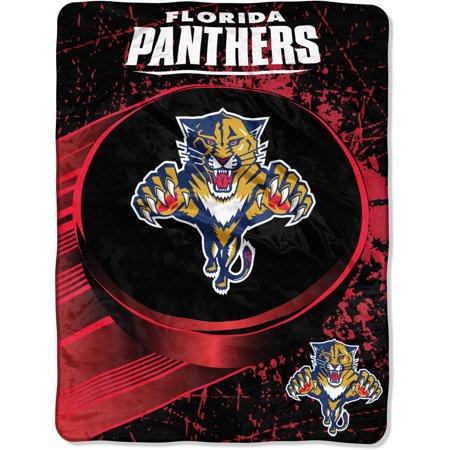 NHL Florida Panthers Ice Dash Micro Raschel Throw Blanket, 46x60-Inch