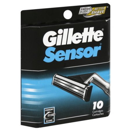- Gillette Sensor Blade Refill Cartridges, 10 Ct