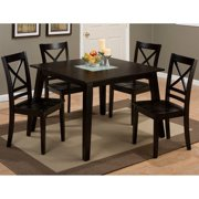 Jofran Roasted Java Dining Table with Glass Insert in Roasted Java