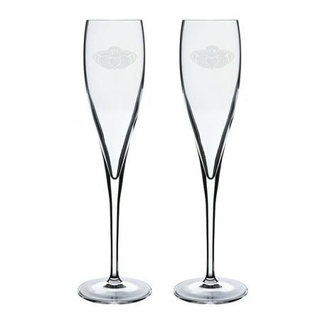 Claddagh Ring Logo Luigi Bormioli 6 oz Titanium Toast Glass - Set of 2 ()