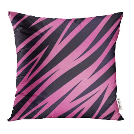 CMFUN Black Girly Pink and Purple Zebra Striped Seamlessly Repeatable 8 White Animal Pillowcase Cushion Cases 20x20