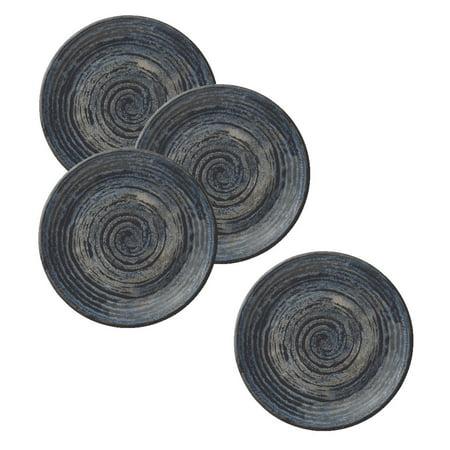 Round Blue Swirl - Merritt Melamine Glazed Blue Swirl 8
