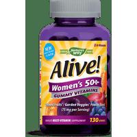 Alive! Womens 50+ Gummy Vitamins Multivitamin Supplements 130 Ct