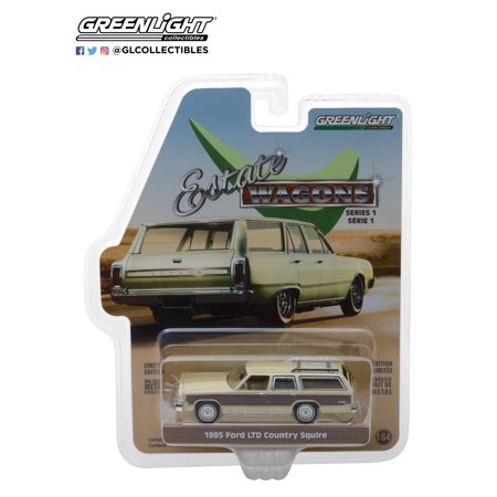 1966 Ford Country Squire Wagon (Greenlight 1:64 Estate Wagons Sr 1 1985 Ford LTD Country Squire)