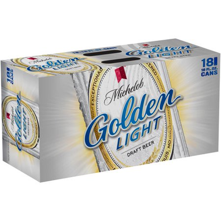Michelob Golden Light Beer, 18 pack, 16 fl oz