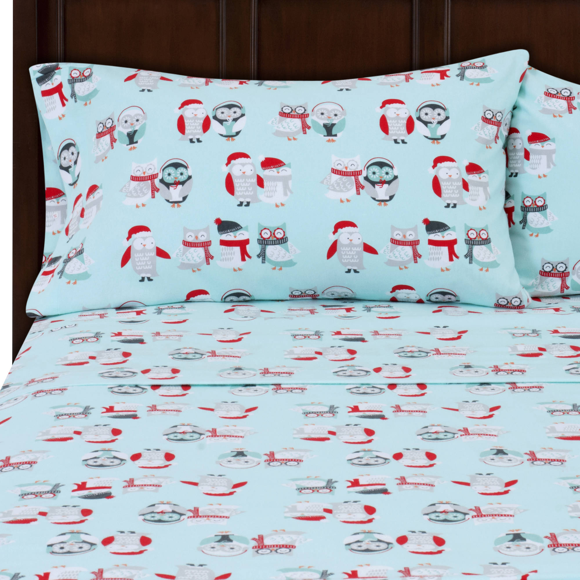 Mainstays Flannel Bedding Sheet Set   Walmart.com