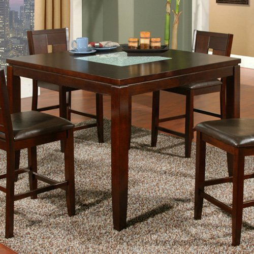 Alpine Furniture Lakeport Counter Height Dining Table - E...