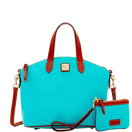 Dooney & Bourke Women's Cork Satchel & Medium Wristlet Sea