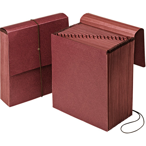 Pendaflex Vertical Indexed A-Z 21-Pocket Expanding Wallet, Red Fiber, Letter